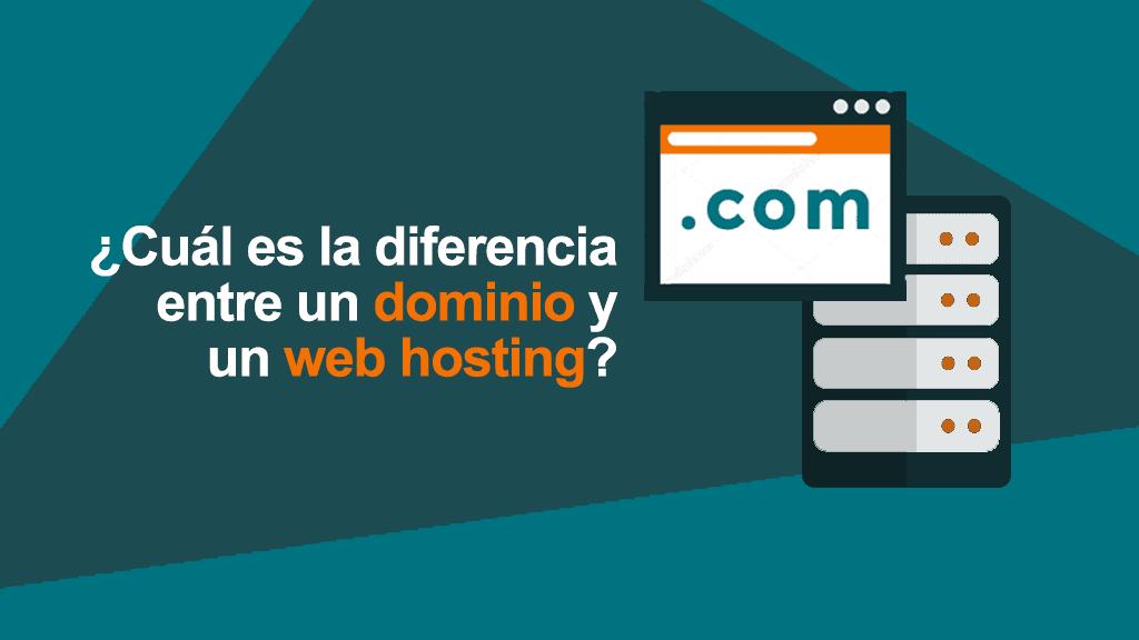 ¿Cuál es la diferencia entre un dominio y un web hosting?