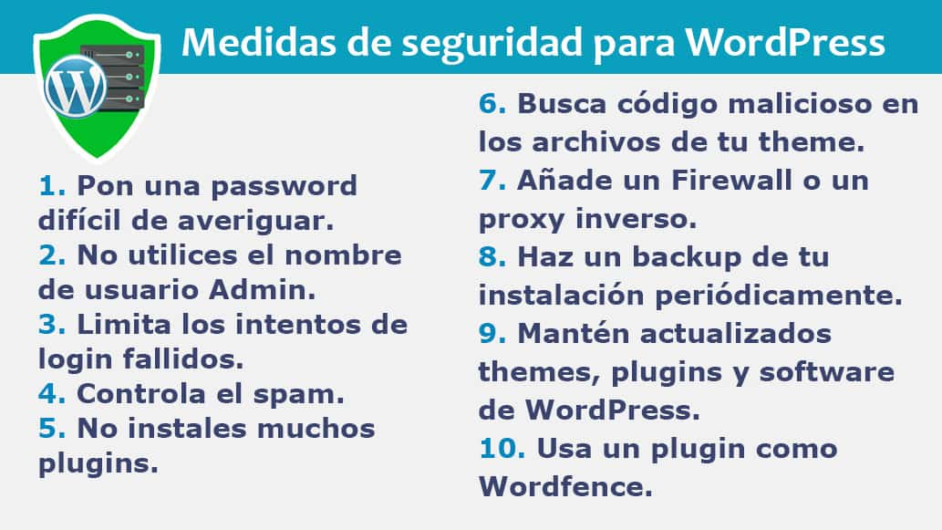 Seguridad de Hosting para WordPress